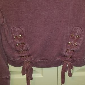 Tops - Criss cross hoodie